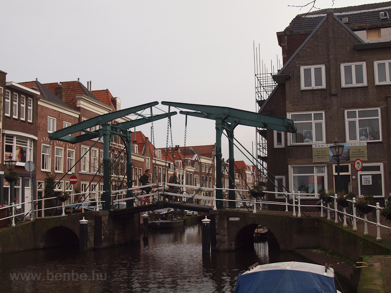 The Kerkbrug, a traditional lift bridge in Leiden, on the Oude Rijn (Old Rhine) photo