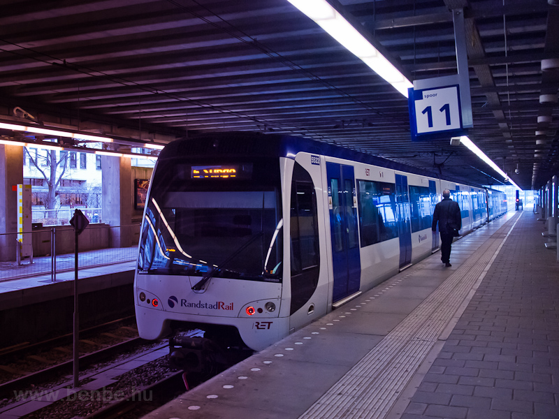 RandstadRail Metro E train seen at Den Haag Centraal photo