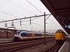 An NS Plan Z ICm Koploper and a printer LightTrain trainset seen at Gouda