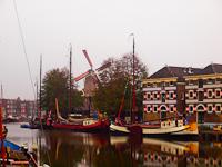 Gouda, a múzeumkikötő (Museumshaven)