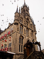 The gothic Town Hall of Gouda at the Marketplace