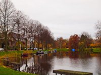 The Singel and its curves in Leiden - the old moat was dug to the feet of the old city walls