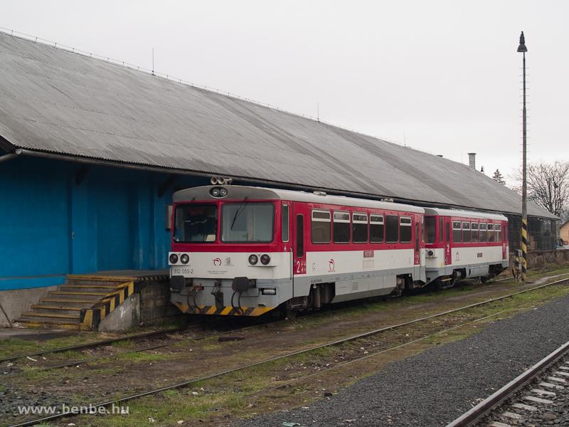 A ŽSSK 812 055-2 pályaszámú, felújított motorkocsi Losoncon fotó
