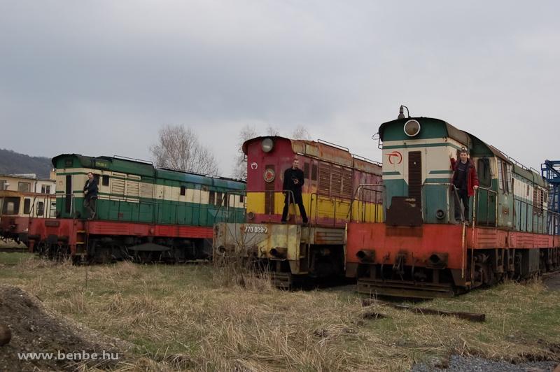 A ŽSCS 771 092-4, 770 029-7 és a 770 054-5 Füleken fotó