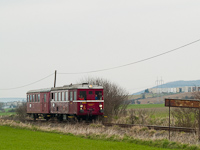 The M 131.1053 <q>Hurvínek</q> historic railcar between Rapp (Rapovce, Slovakia) and Kalonda (Kalonda, Slovakia)