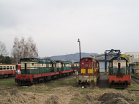 The ŽSCS 771 092-4, 770 029-7 and 770 054-5 at Fülek (Fil'akovo, Slovakia)