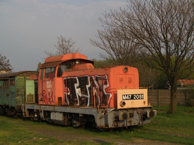 M47 2051 a székesfehérvári fűtőházban fotó