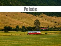Freight trains and a historic railcar on the branches around Plesivec, Slovakia,
