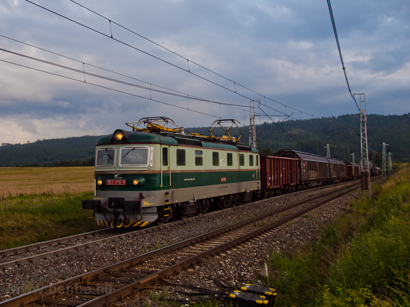 The ŽSSKC 183 019-9 seen between Ganovce and Poprad-Tatry photo