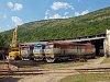 A ŽSSKC 199 405-2, 751 026, 751 118-, 751 125-6 és a 752 043-0 Pelsőcz állomáson