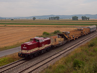 The ŽSR 745 608-0 seen between Výh Vinohrady and Dubovec