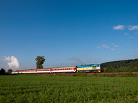 The ŽSSK 750 003-6 seen between Nováky and Kos