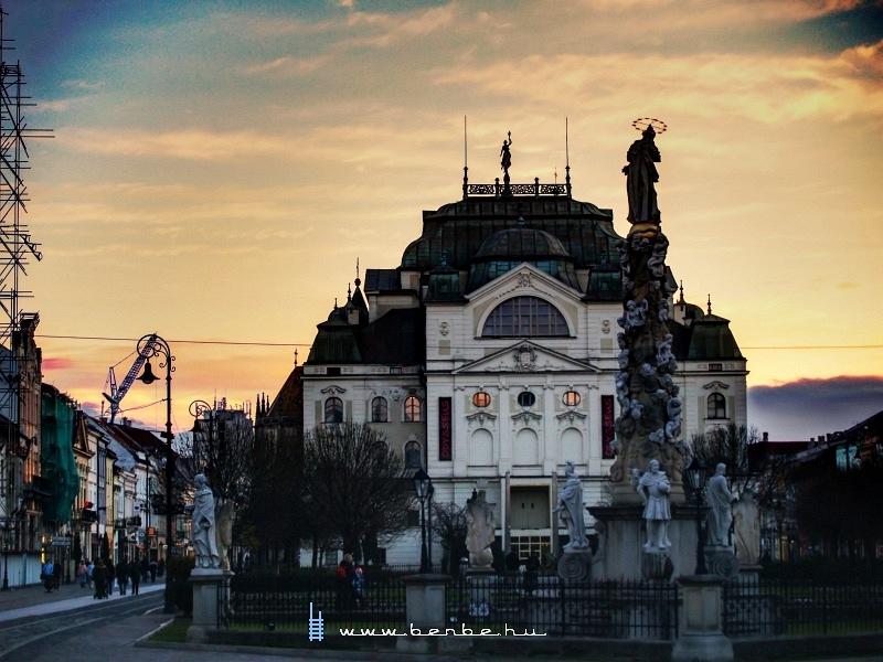 Kassai utcaképek - a Nemzeti Színház fotó