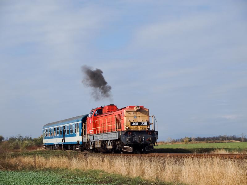 A MÁV-TR 408 235-ös Púpos Jászapáti és Jászkisér között fotó