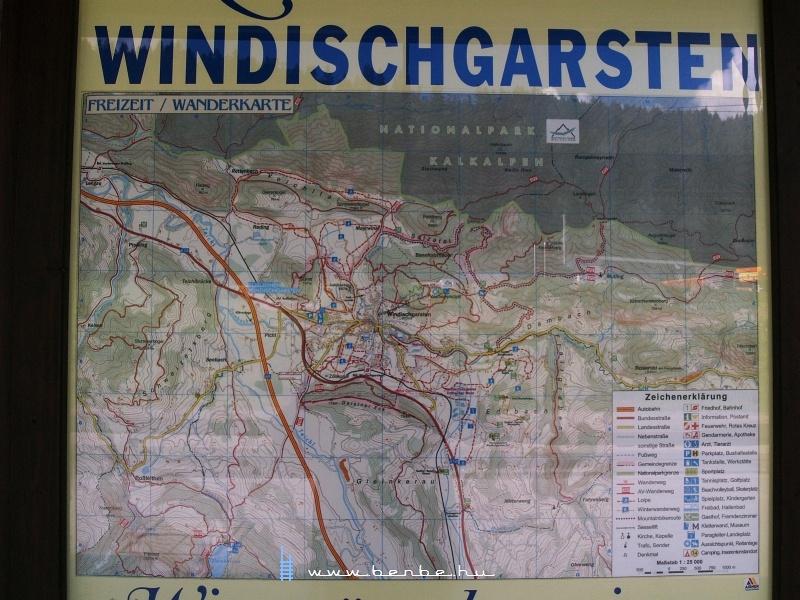 Windischgarsten környékének részletes térképe fotó