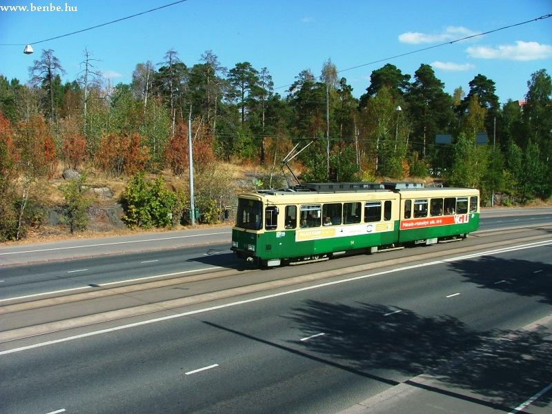 Nr I. villamos Helsinkiben, a Nordenskiöldinkatun az Olimpiai Stadion közelében fotó