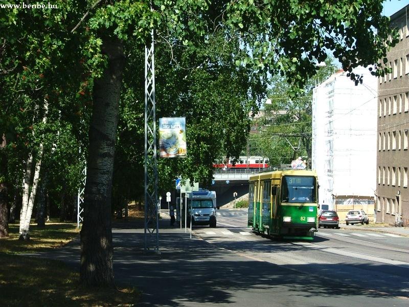 Nr II. villamos a 3T viszonylaton Helsinki Alppiharju negyedében fotó