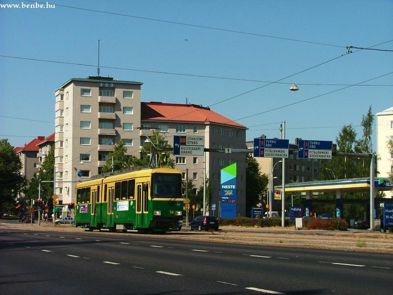 Nr II. típusú villamos Helsinki Munkkiniemi negyedében fotó