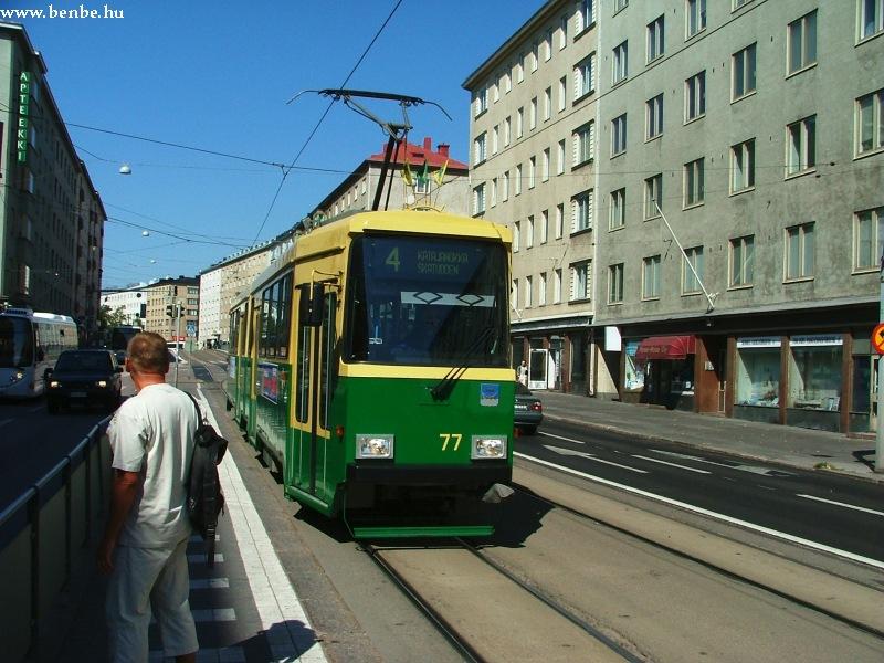Nr II. villamos a Mannerheimintie felsõ szakaszán (Helsinki) fotó
