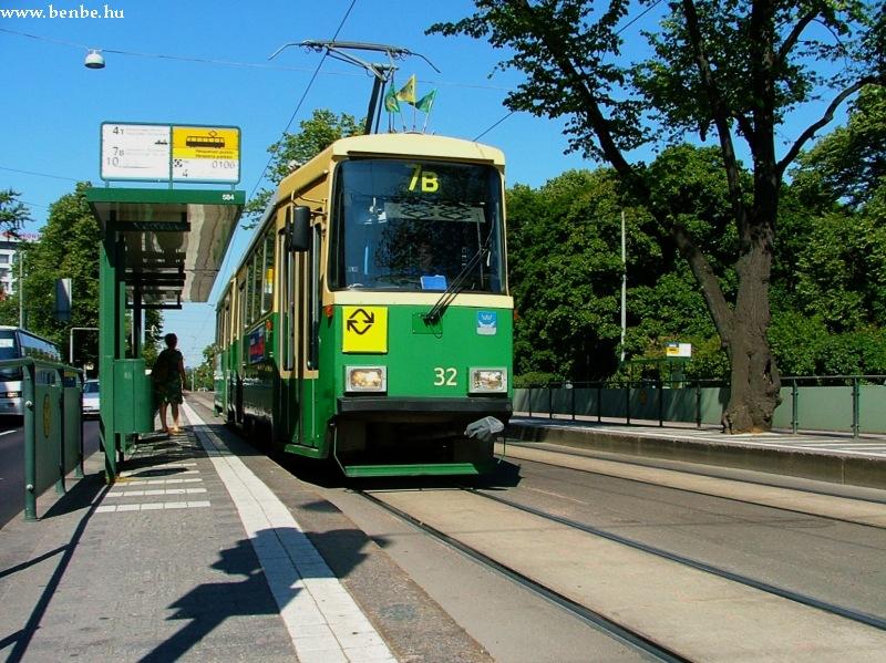 Nr I. villamos a Mannerheimintie alsó szakaszán (Helsinki) fotó