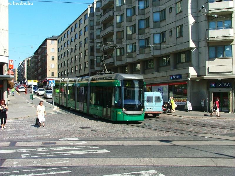 AdTranz Variotram Helsinki Hakaniemi negyedében fotó
