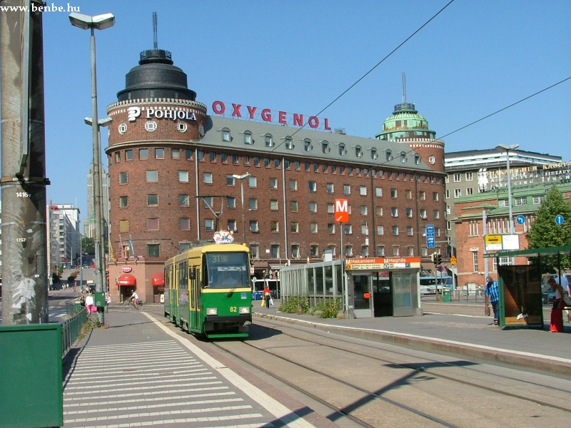 Nr II. villamos Helsinki Hakaniemi negyedében fotó
