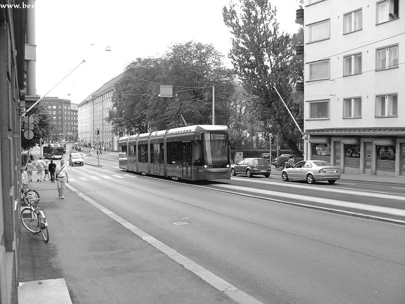 Variotram Helsinki Töölö negyedében fotó