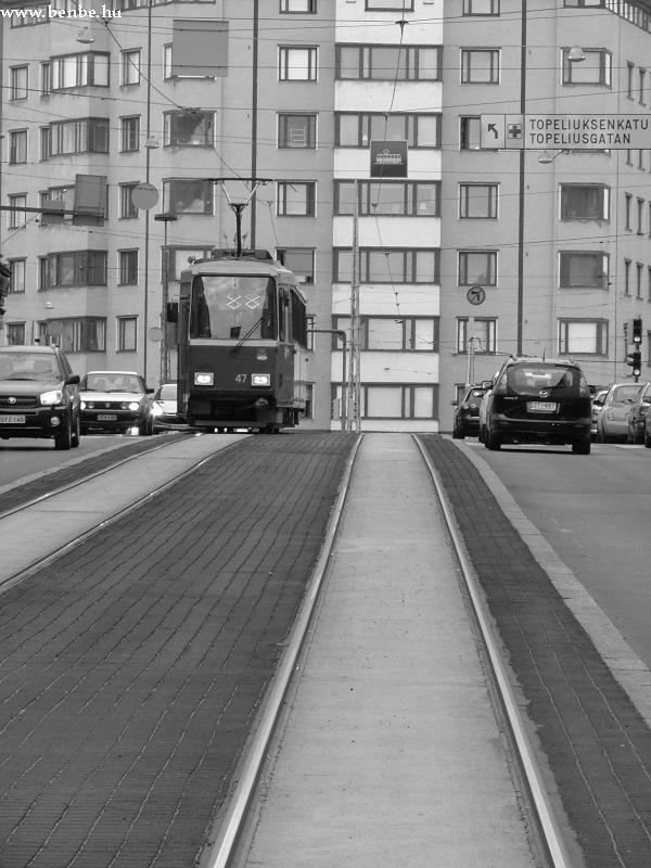 Nr I. típusú villamos Helsinki Töölö negyedében fotó