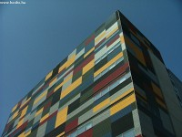 A colourful building in the freshly built Arabia district of Helsinki