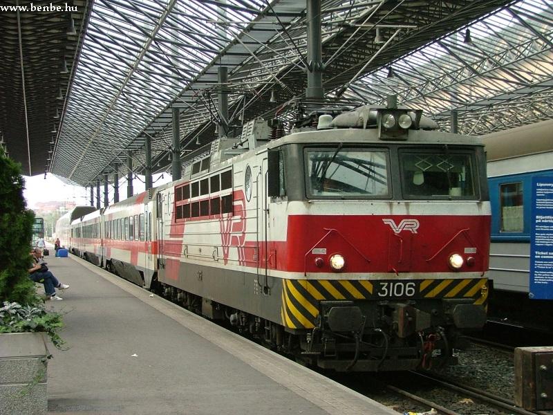 A 3106 számú Sr1 típusú mozdony Helsinkiben fotó