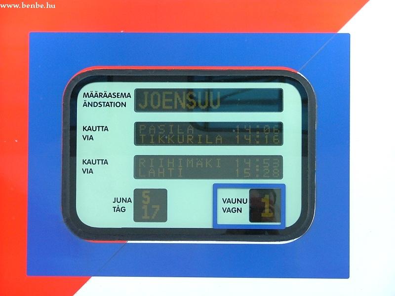 Egy IC kocsi oldalfala ennyi információval lát el minket fotó