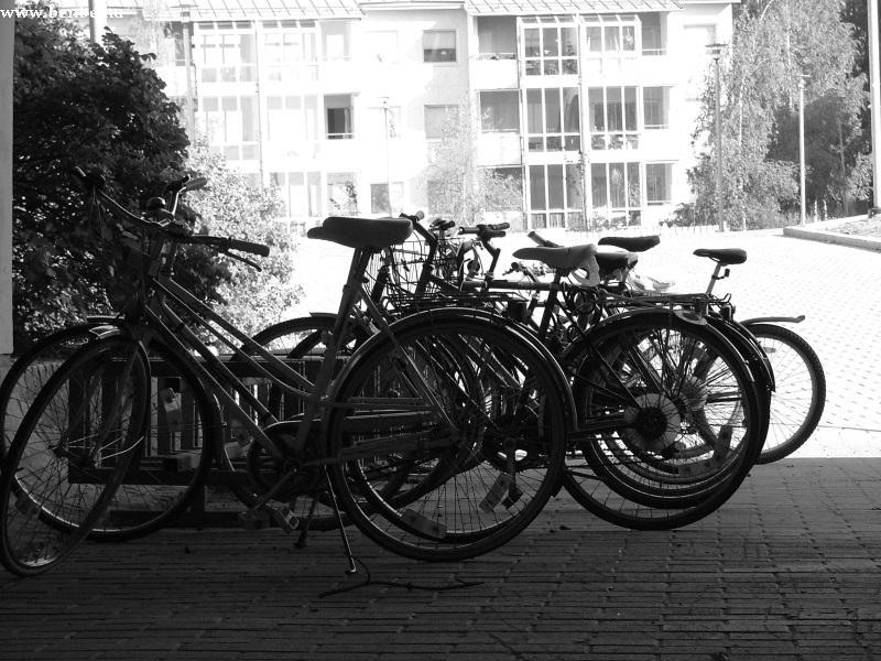 Biciklik Kera megállóhely aluljárójában: nem mindgeyik van leláncolva fotó
