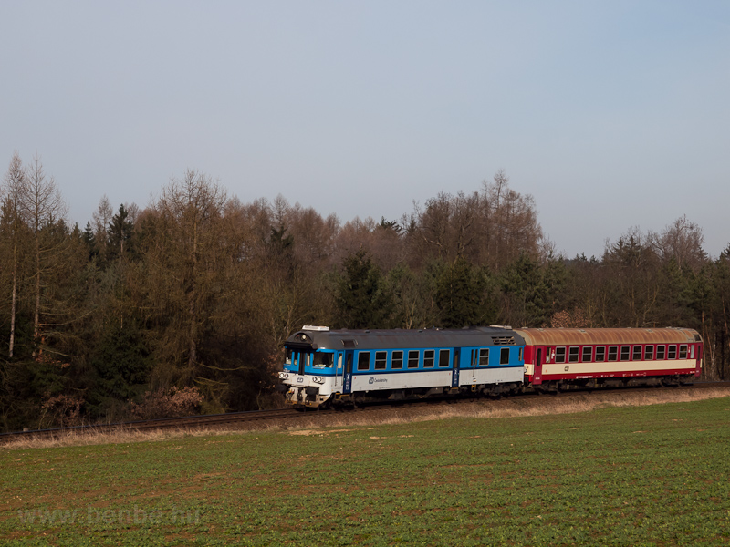 The ČD 854 203-7 seen  photo