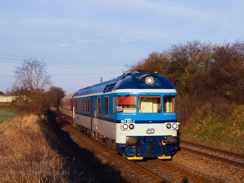 The ČD 854 201-1 seen  photo