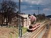 The &#268;D 854 012-2 <q>Zuzka</q> seen at St&#345;elice railway station