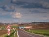 The ČD 842 019-2 seen between Valtice and Sedlec u Mikulova