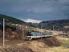 The ČD 460 025-0 seen between Vsetín and Jablunka