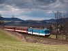 The ČD 842 010-1 seen between Frenstát pod Radhoštěm and Kunčice pod Ondřejníkem