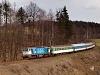 The ČD 754 086-7 seen between Kunčice pod Ondřejníkem and Frenstát pod Radhoštìm