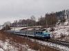 The ČD 150 203-8 seen between Česka Třebová and Dlouhá Třebová
