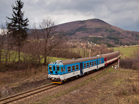 The ČD 842 011-9 seen between Frenstát pod Radhoštìm and Kunčice pod Ondřejníkem