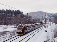 A Leo Express 480 001-7 pályaszámú, ötrészes, távolsági kivitelű Stadler FLIRT 160-asa Hoštejn és Tatenice között
