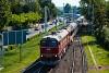 A MÁV-START M62 001 Balatonalmádi állomáson a második, 2020. évi retró-hétvégén