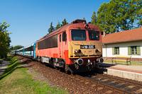 A MÁV-START 418 325 Balatonszepezd megállóhelyen