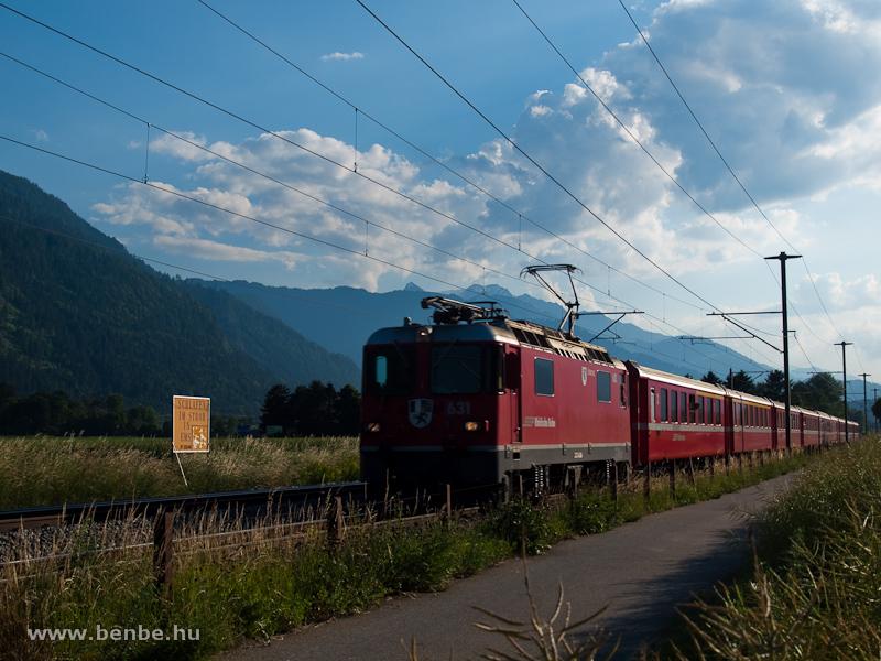 A Ge 4/4 II  631 Domat/Ems és Felsberg között fotó