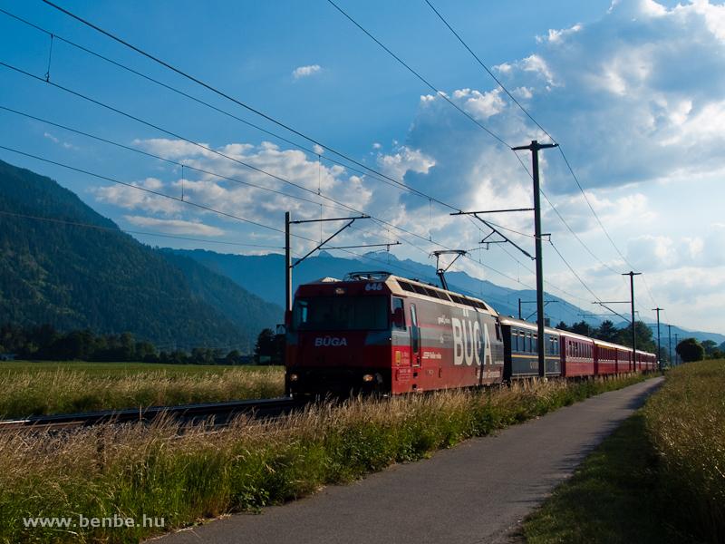 A Ge 4/4 III  646 Domat/Ems és Felsberg között fotó