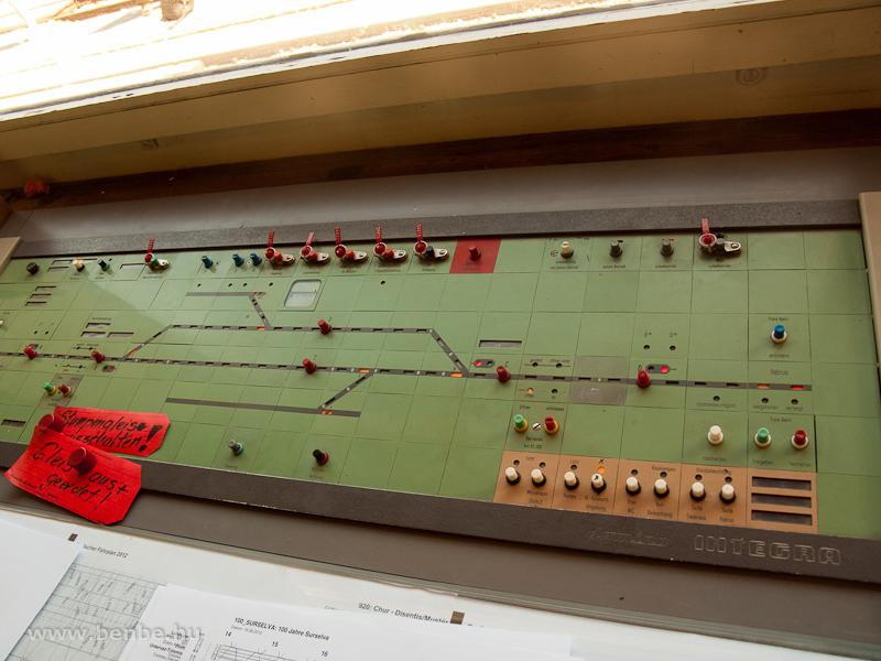 Trun állomás Integra Domino biztosító berendezése fotó