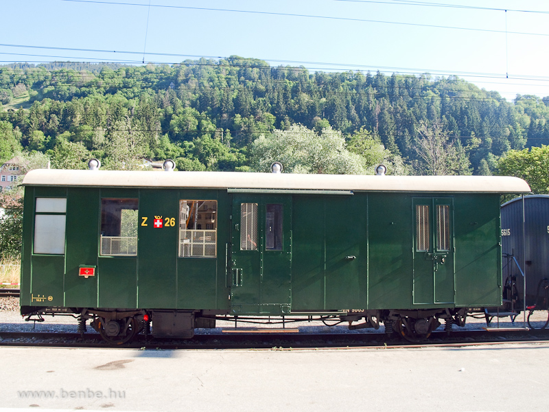 RhB postakocsi Ilanzban fot�