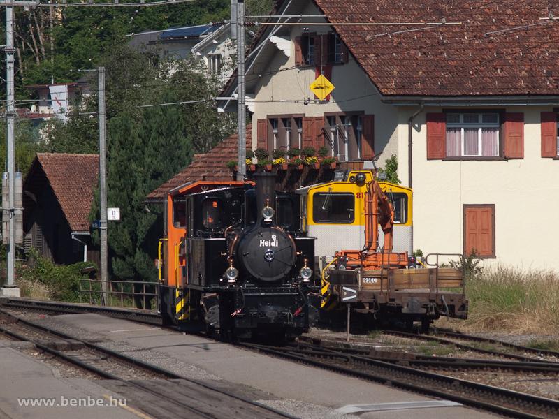 Az RhB G 3/4 11  Heidi  Ilanzban fotó