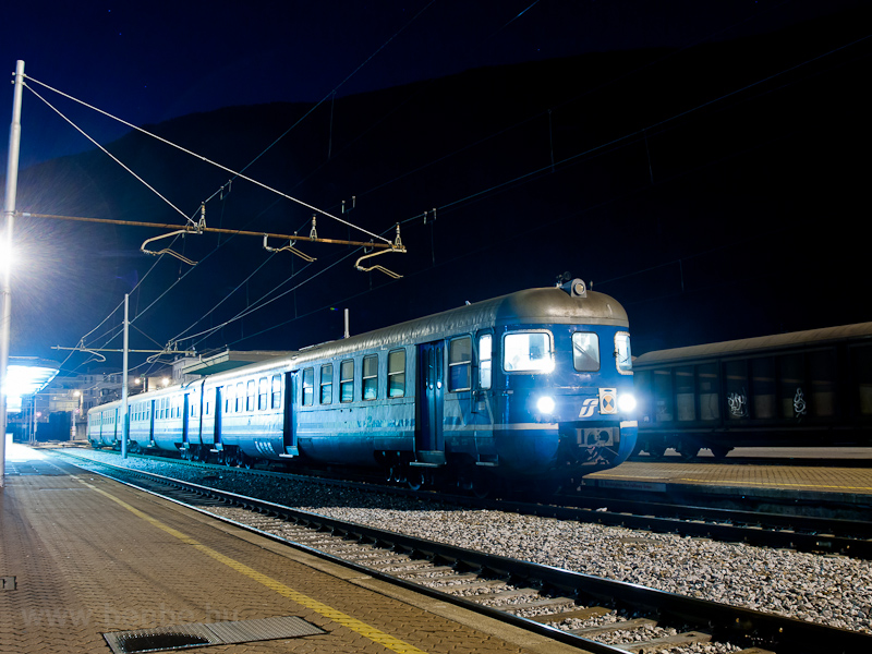 An FS ALe 803 trainset seen at Tirano station photo